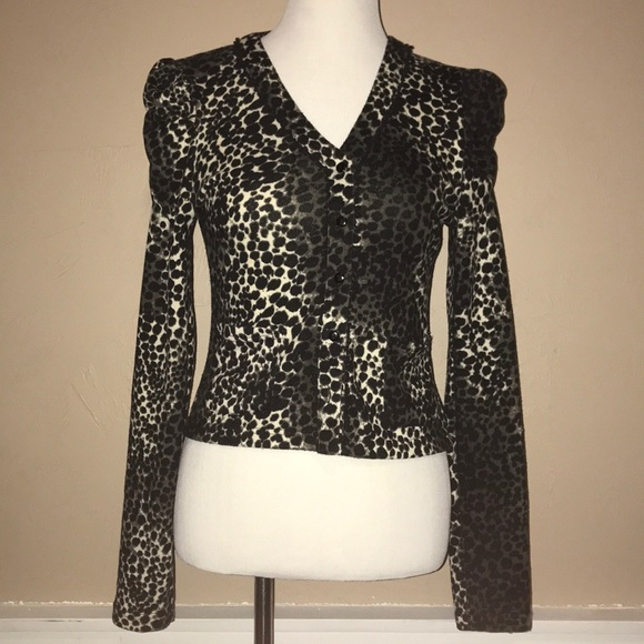 Poetry Sweaters - Leopard print long sleeve cardigan